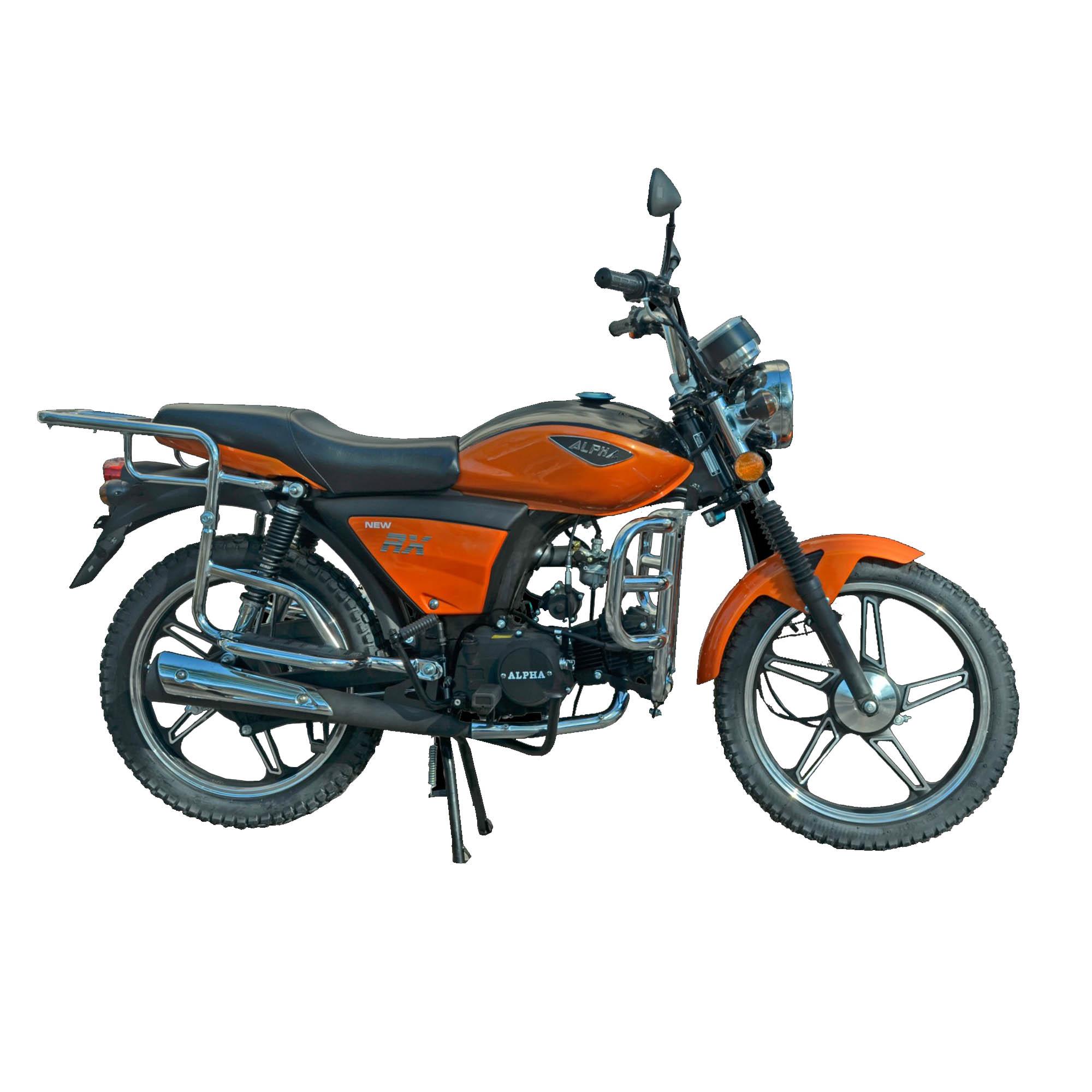 Мопед Alpha Moto NEW RX цвет оранжевый металлик купить по низкой цене