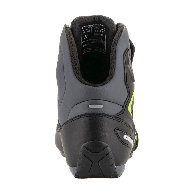 Мотоциклетные ботинки ALPINESTARS FASTER-3 DRYSTAR вид сзади купить по низкой цене