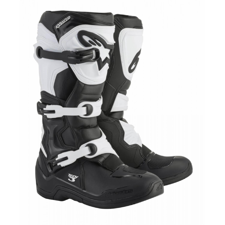 ALPINESTARS TECH 3 спортивные сапоги, чёрно-белого цвета для мотокросса купить по низкой цене