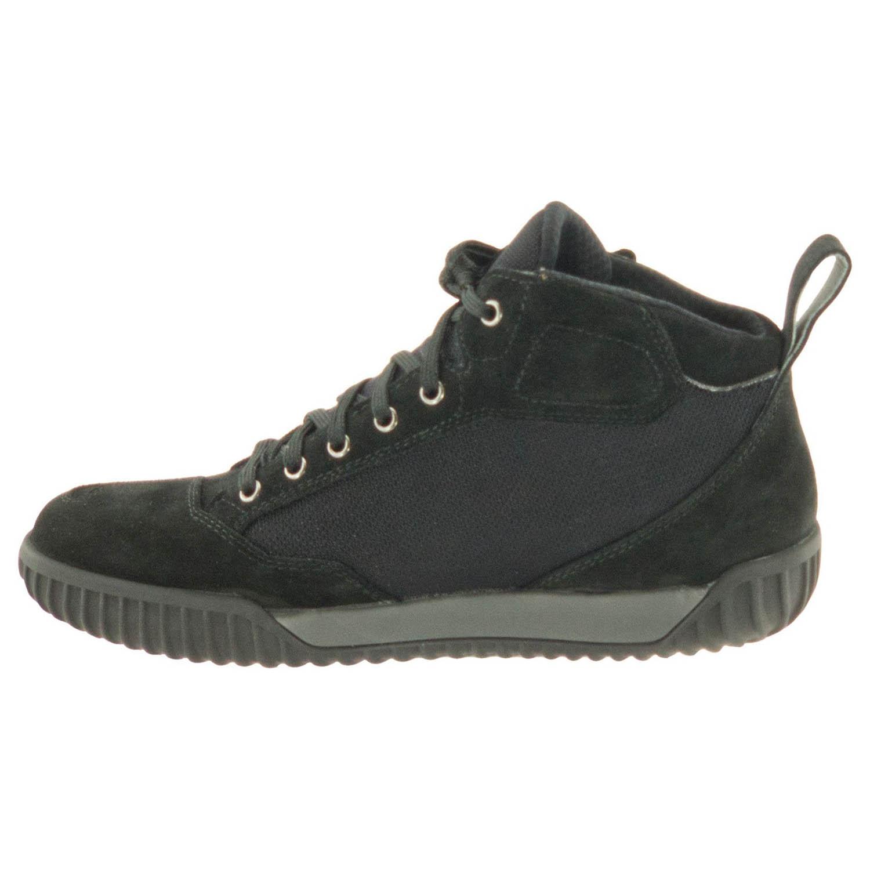 GAERNE G.RAZOR черного цвета мотоциклетные ботинки из замши, вид с внутренней стороны купить по низкой цене