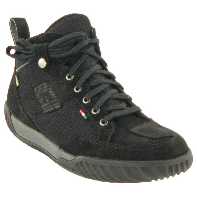 GAERNE G.RAZOR черного цвета мотоциклетные ботинки из замши, вид сзади купить по низкой цене