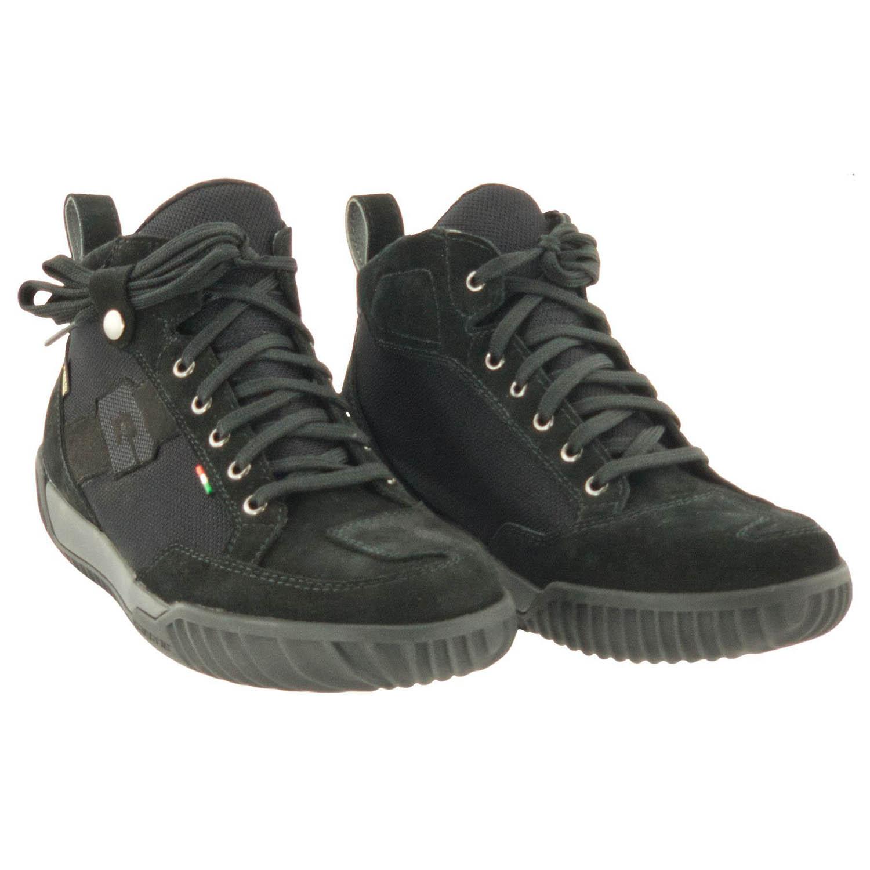 GAERNE G.RAZOR черного цвета мотоциклетные ботинки из замши купить по низкой цене