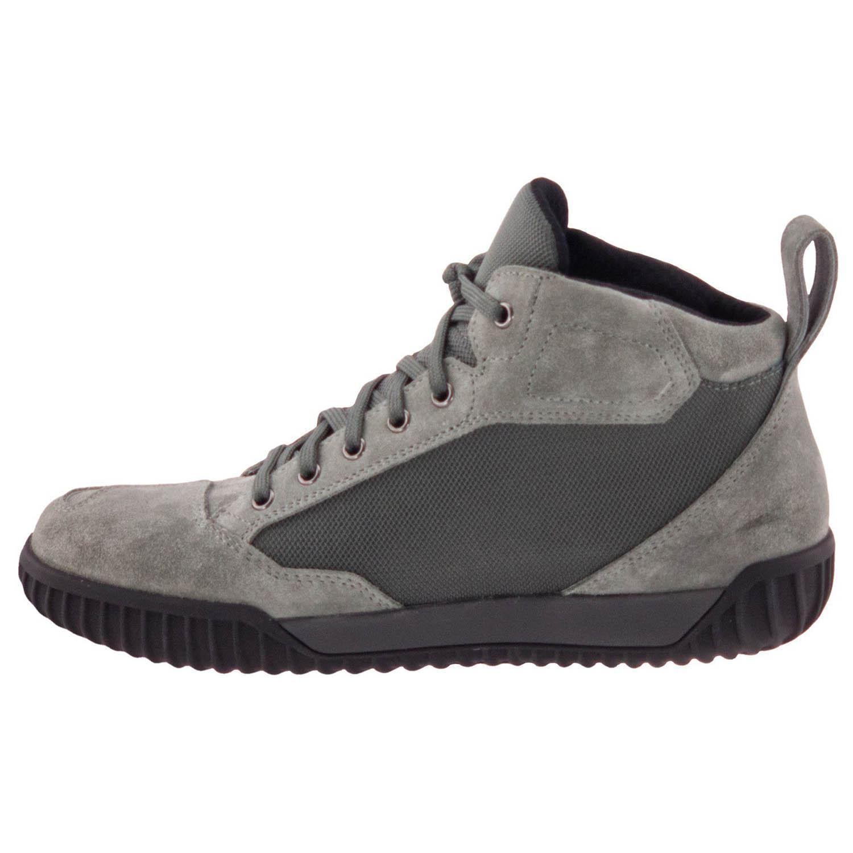 GAERNE G.RAZOR серого цвета мотоциклетные ботинки из замши, вид с внутренней стороны купить по низкой цене