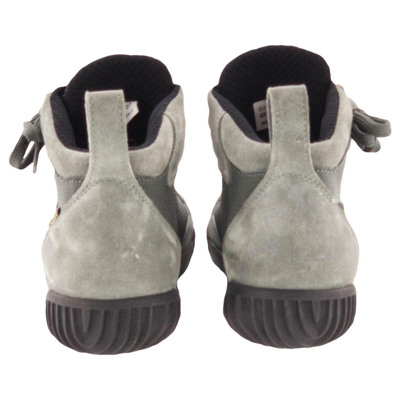 GAERNE G.RAZOR серого цвета мотоциклетные ботинки из замши, вид сзади купить по низкой цене