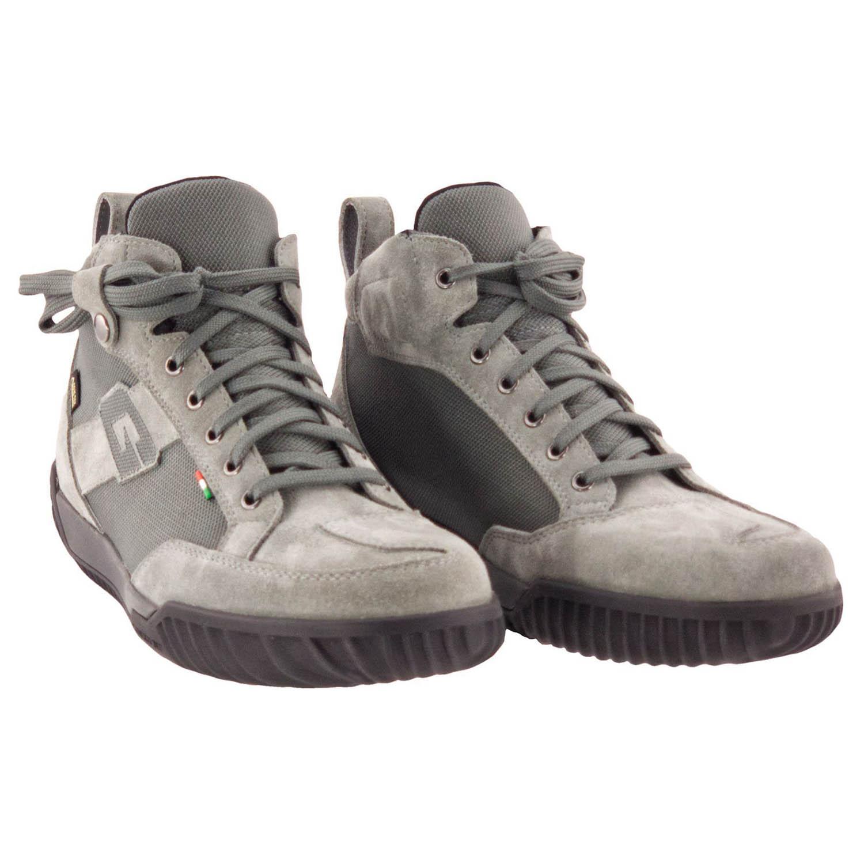 GAERNE G.RAZOR серого цвета мотоциклетные ботинки из замши купить по низкой цене