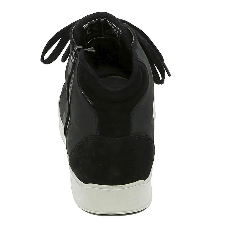 GAERNE G.VOYAGER CDG черного цвета мотоциклетные кроссовки, вид сзади купить по низкой цене
