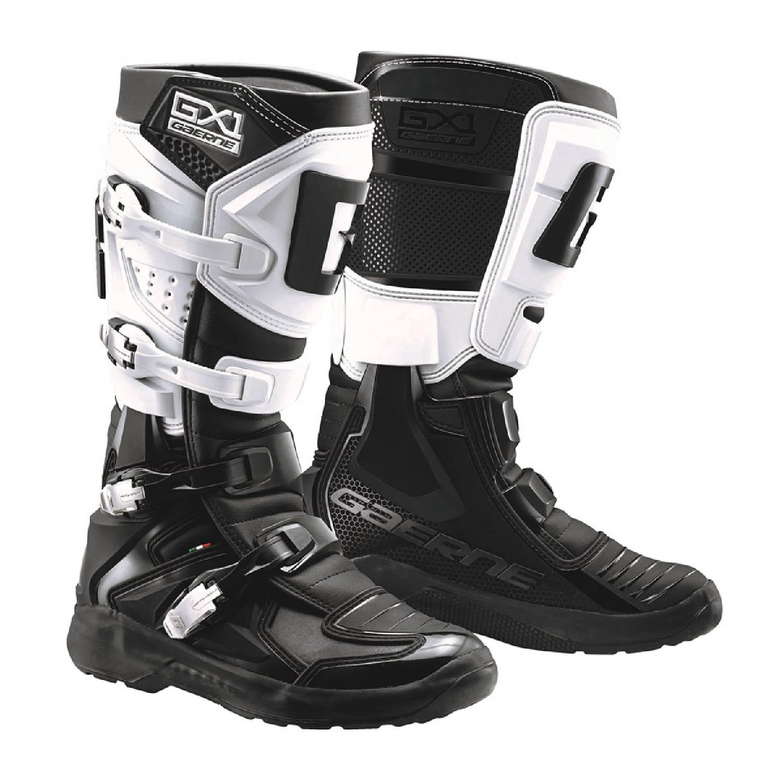 GAERNE GX-1 EVO цвет чёрно-белый спортивные сапоги для мотокросса купить по низкой цене
