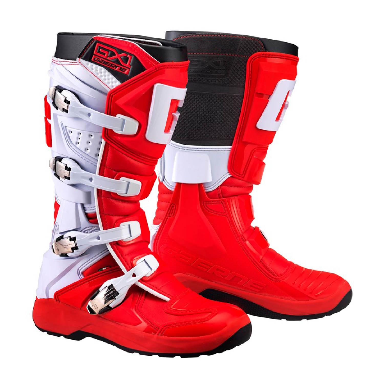 GAERNE GX-1 EVO цвет чёрно-красный спортивные сапоги для мотокросса купить по низкой цене