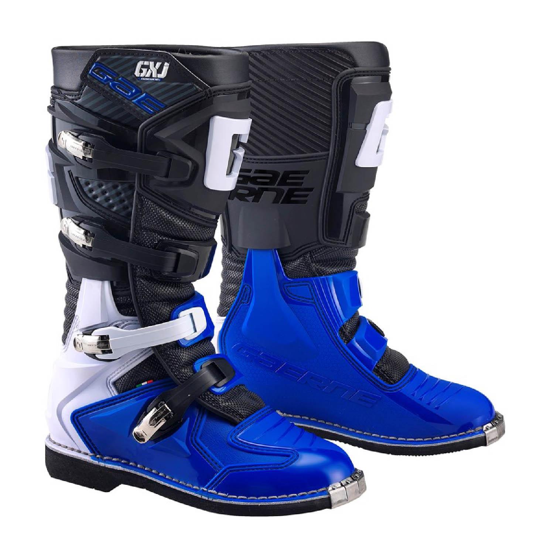GAERNE GX-J цвет чёрно-синий мотокроссовые сапоги для юниоров купить по низкой цене