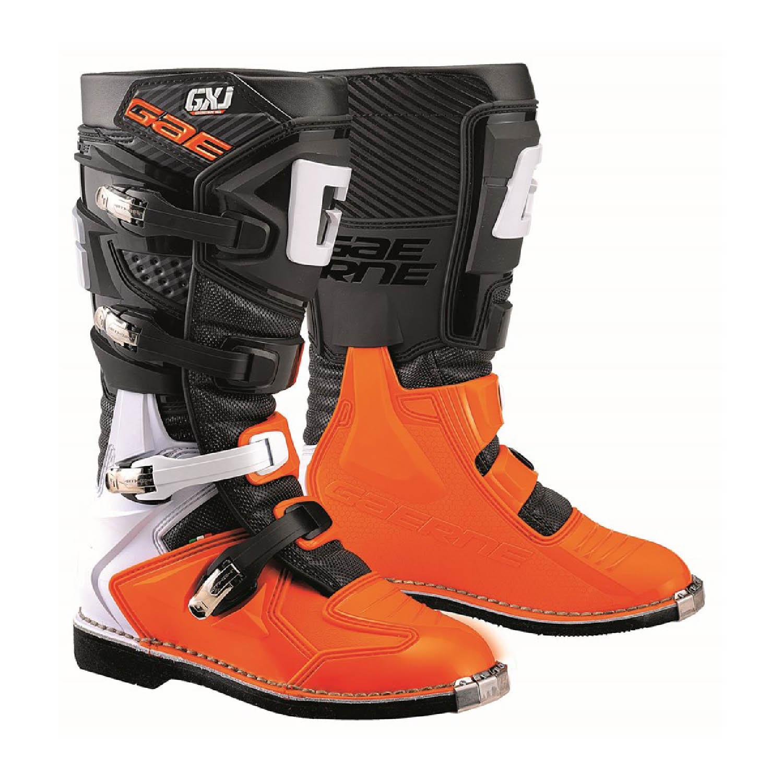 GAERNE GX-J цвет чёрно-оранжевый мотокроссовые сапоги для юниоров купить по низкой цене
