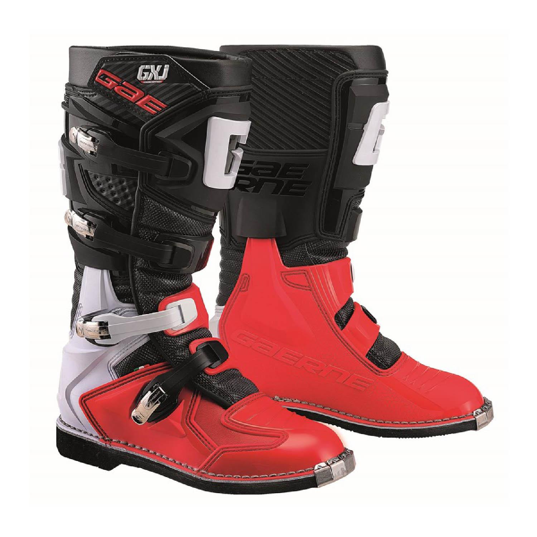 GAERNE GX-J цвет чёрно-красный мотокроссовые сапоги для юниоров купить по низкой цене