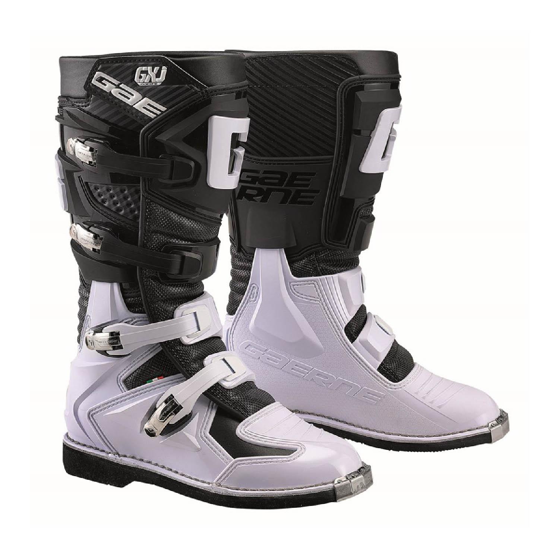 GAERNE GX-J цвет чёрно-белый мотокроссовые сапоги для юниоров купить по низкой цене