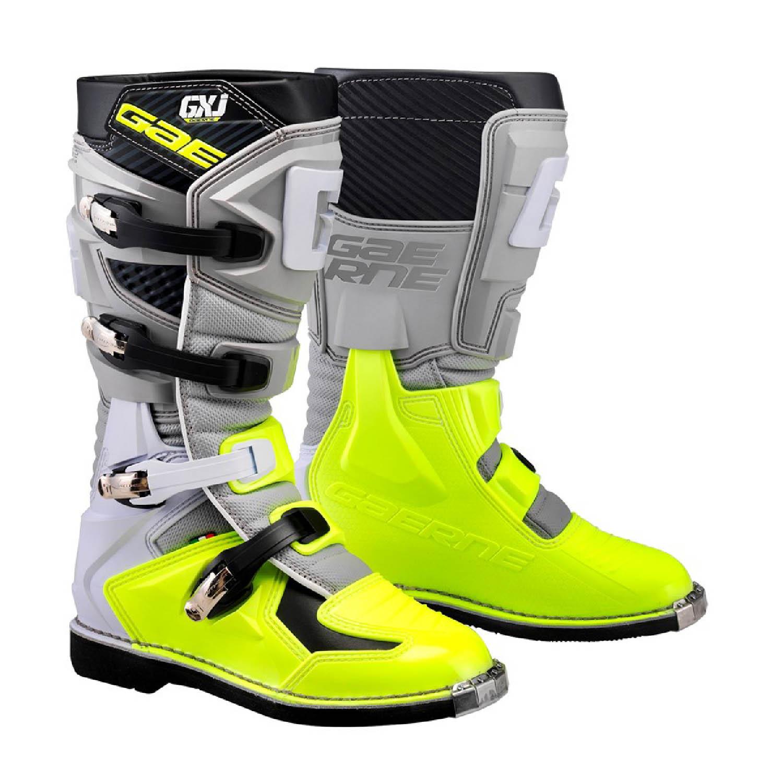 GAERNE GX-J цвет чёрно-желтый мотокроссовые сапоги для юниоров купить по низкой цене