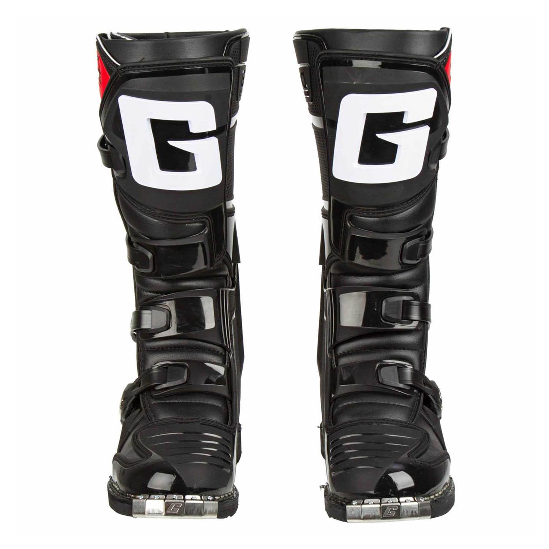 GAERNE GX-1 черного цвета спортивные сапоги для мотокросса, вид спереди купить по низкой цене