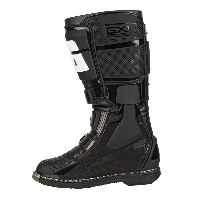 GAERNE GX-1 черного цвета спортивные сапоги для мотокросса, вид с внутренней стороны купить по низкой цене