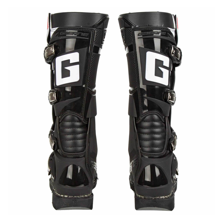 GAERNE GX-1 черного цвета спортивные сапоги для мотокросса, вид сзади купить по низкой цене