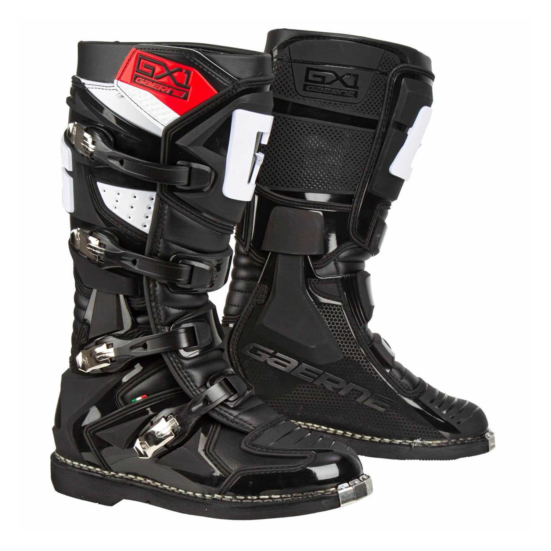 GAERNE GX-1 черного цвета спортивные сапоги для мотокросса купить по низкой цене