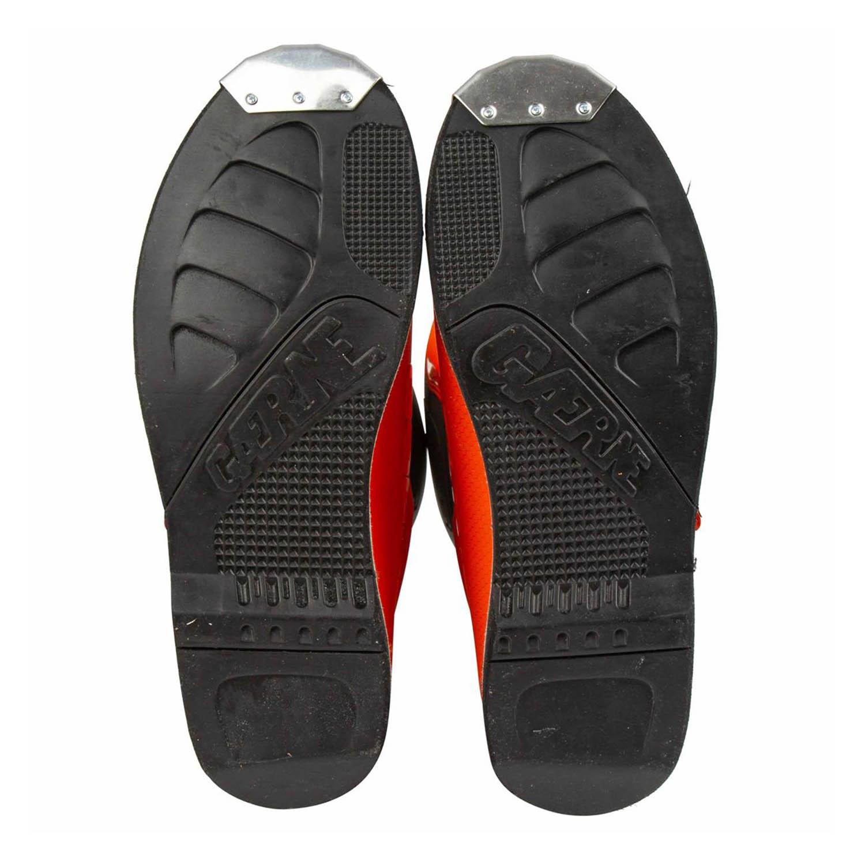 GAERNE GX-1 оранжевого цвета спортивные сапоги для мотокросса, вид подошвы купить по низкой цене