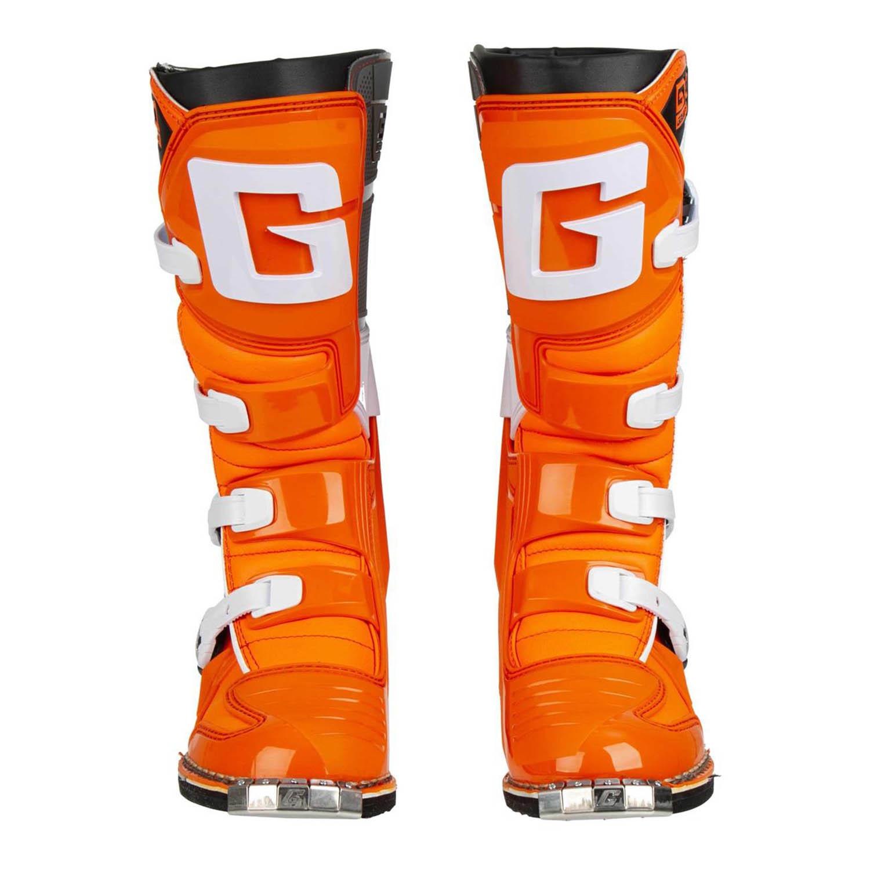 GAERNE GX-1 оранжевого цвета спортивные сапоги для мотокросса, вид спереди купить по низкой цене