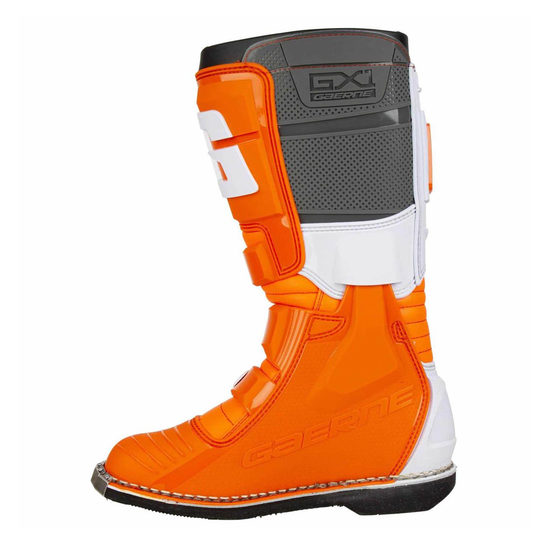 GAERNE GX-1 оранжевого цвета спортивные сапоги для мотокросса, вид с внутренней стороны купить по низкой цене