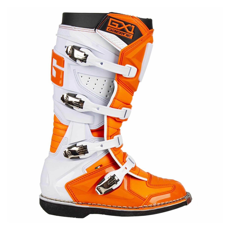 GAERNE GX-1 оранжевого цвета спортивные сапоги для мотокросса, вид с наружной стороны купить по низкой цене