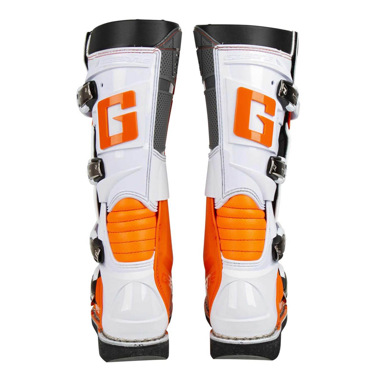 GAERNE GX-1 оранжевого цвета спортивные сапоги для мотокросса, вид сзади купить по низкой цене