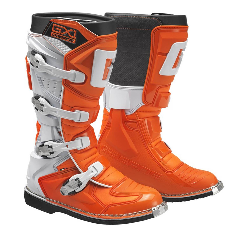 GAERNE GX-1 оранжевого цвета спортивные сапоги для мотокросса купить по низкой цене