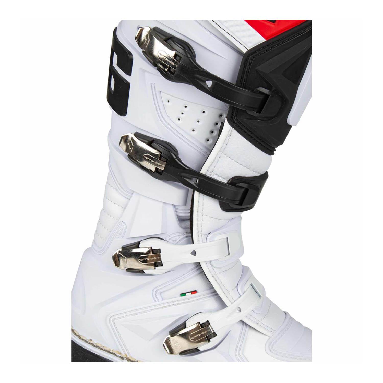 GAERNE GX-1 белого цвета спортивные сапоги для мотокросса, вид застёжки купить по низкой цене