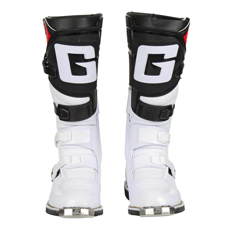 GAERNE GX-1 белого цвета спортивные сапоги для мотокросса, вид спереди купить по низкой цене
