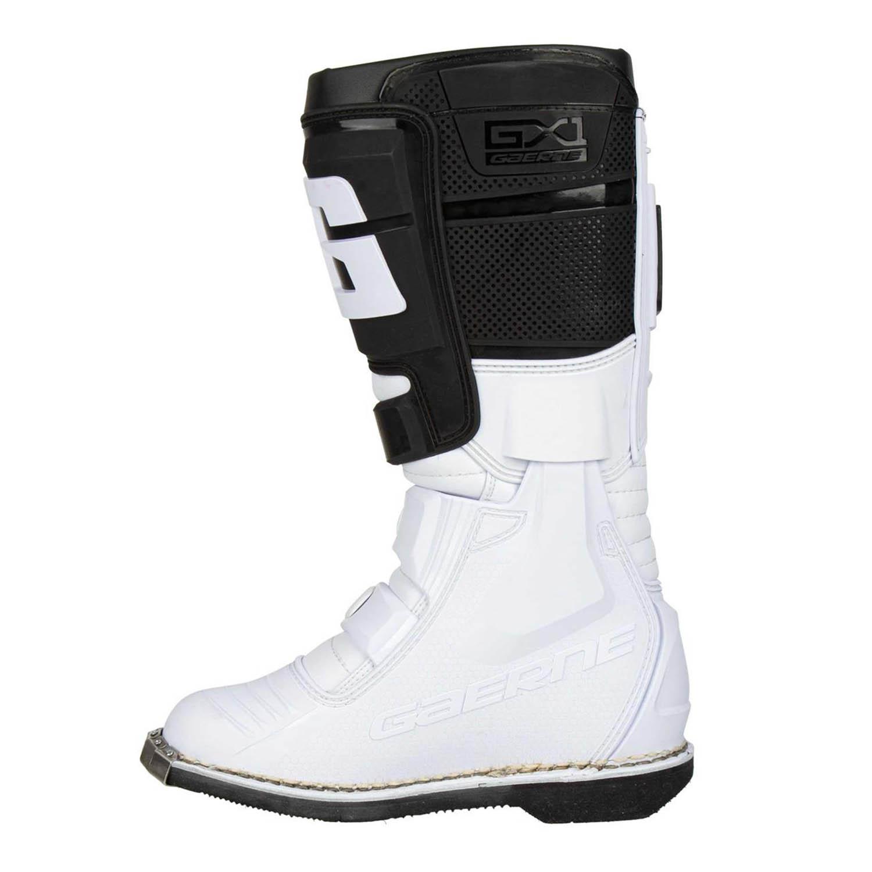 GAERNE GX-1 белого цвета спортивные сапоги для мотокросса, вид с внутренней стороны купить по низкой цене