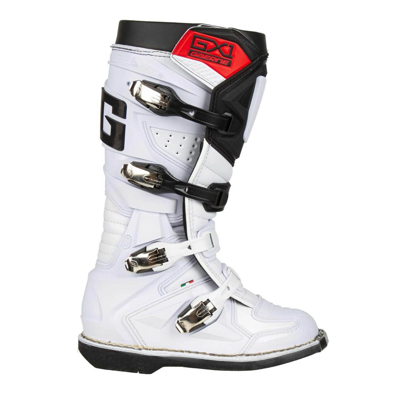 GAERNE GX-1 белого цвета спортивные сапоги для мотокросса, вид с наружной стороны купить по низкой цене