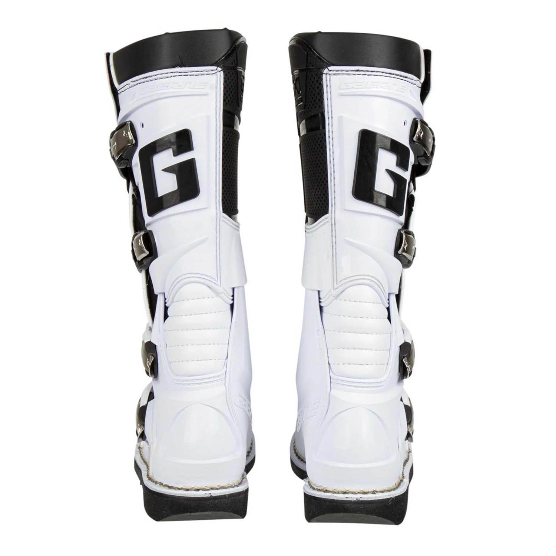 GAERNE GX-1 белого цвета спортивные сапоги для мотокросса, вид сзади купить по низкой цене