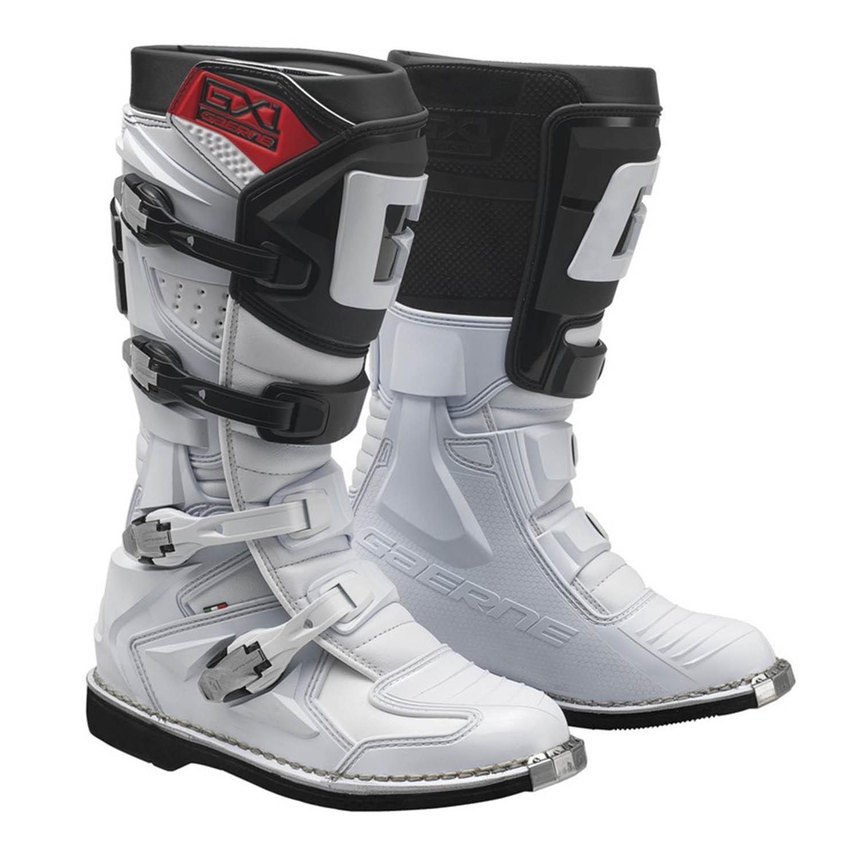 GAERNE GX-1 белого цвета спортивные сапоги для мотокросса купить по низкой цене