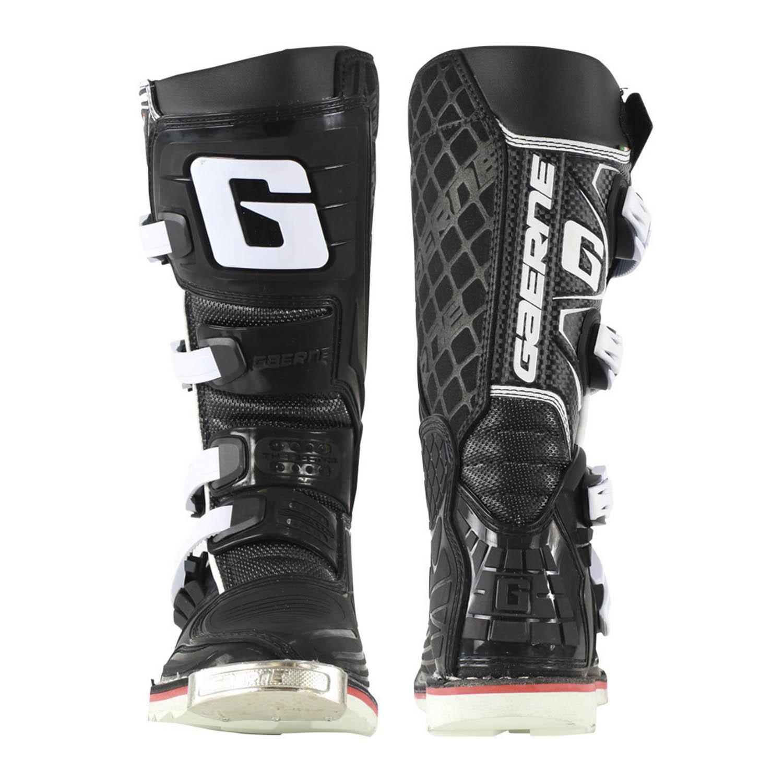 GAERNE SG-J цвет чёрный мотокроссовые сапоги для юниоров, вид спереди и сзади купить по низкой цене
