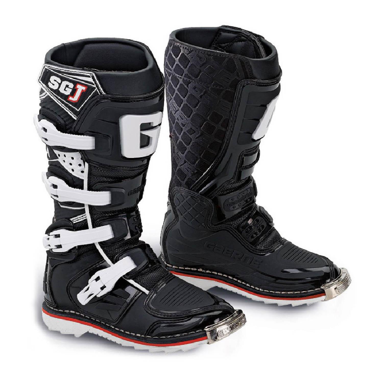 GAERNE SG-J цвет чёрный мотокроссовые сапоги для юниоров купить по низкой цене