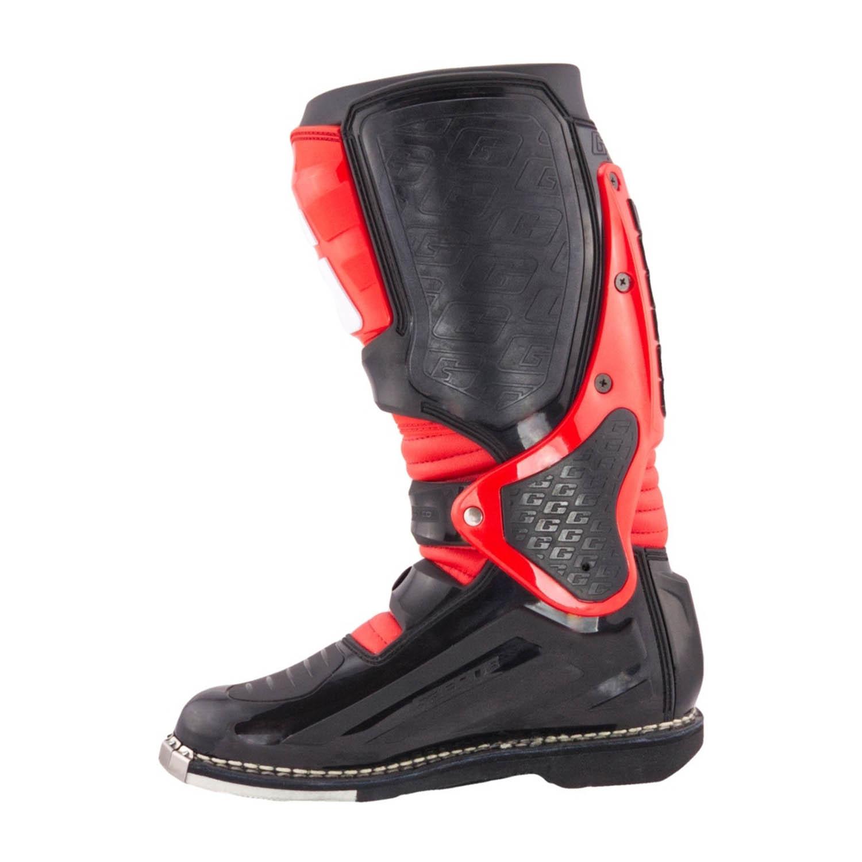 GAERNE SG-10 черно-красного цвета спортивные сапоги для мотокросса, вид с внутренней стороны купить по низкой цене