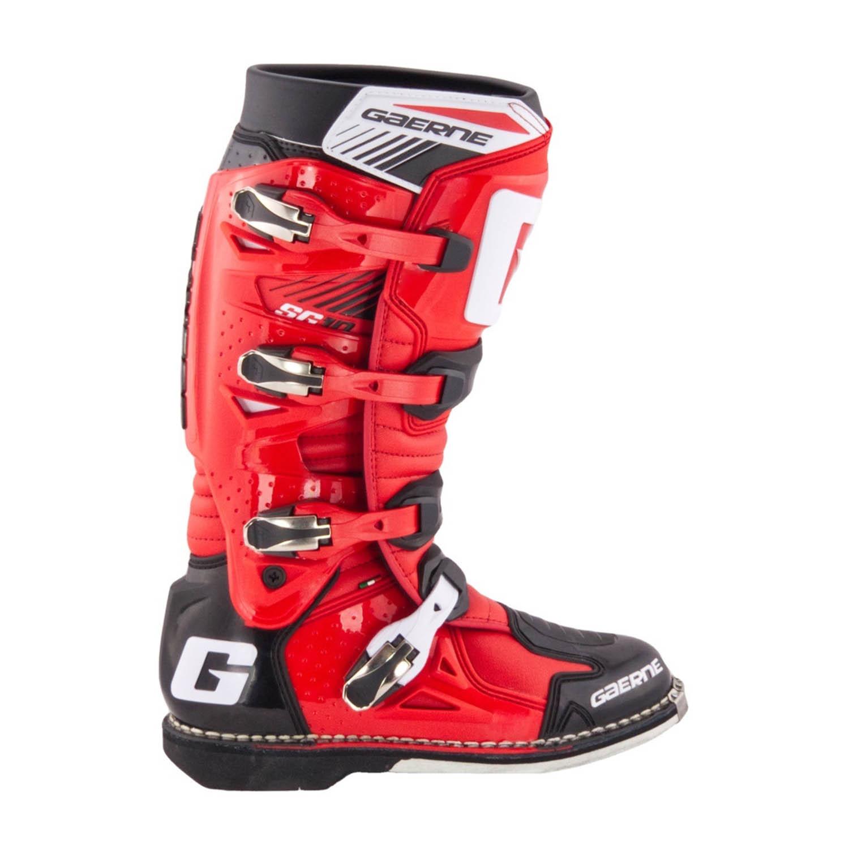 GAERNE SG-10 черно-красного цвета спортивные сапоги для мотокросса, вид с наружной стороны купить по низкой цене