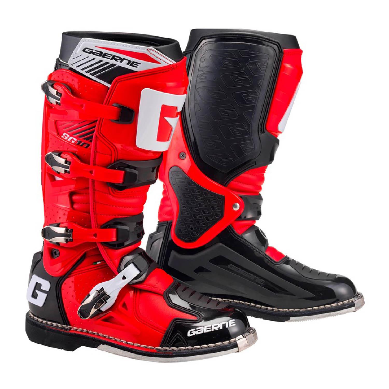 GAERNE SG-10 черно-красного цвета спортивные сапоги для мотокросса купить по низкой цене
