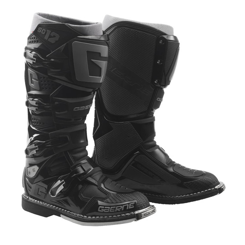 GAERNE SG-12 черного цвета спортивные сапоги для мотокросса купить по низкой цене
