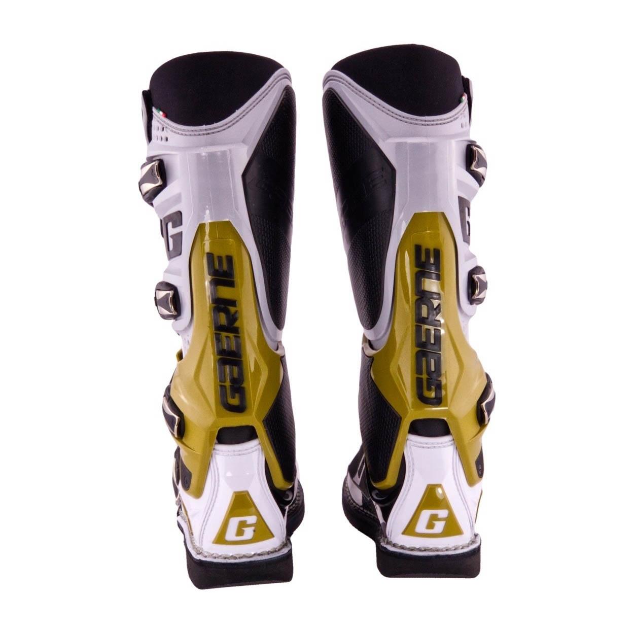 GAERNE SG-12 спортивные сапоги для мотокросса, вид сзади цвет серо-магнезиво-белый купить по низкой цене