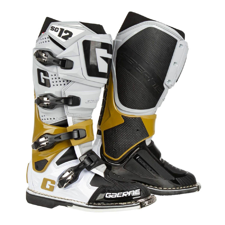 GAERNE SG-12 спортивные сапоги для мотокросса цвет серо-магнезиво-белый купить по низкой цене