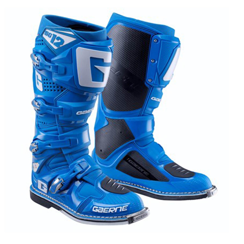 GAERNE SG-12 синего цвета спортивные сапоги для мотокросса купить по низкой цене