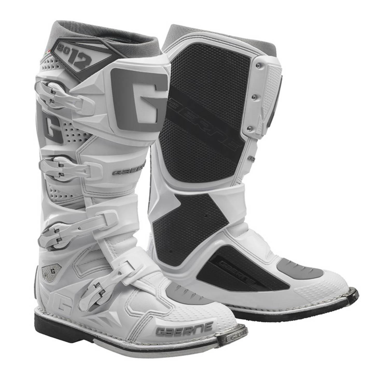 GAERNE SG-12 белого цвета спортивные сапоги для мотокросса купить по низкой цене