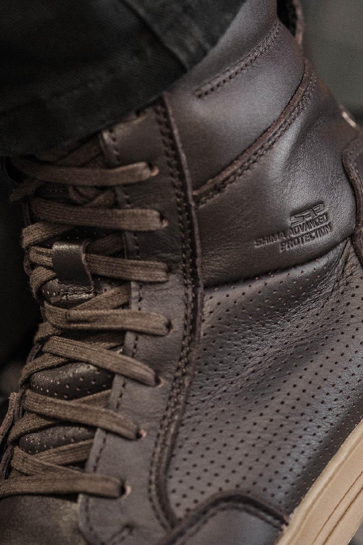 Мотоциклетные ботинки SHIMA BLAKE BOOTS из кожи вид шнурки купить по низкой цене