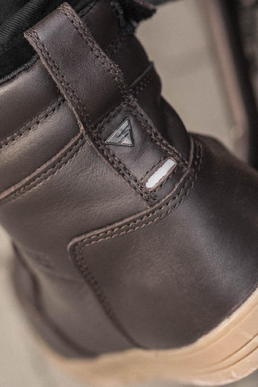 Мотоциклетные ботинки SHIMA BLAKE BOOTS из кожи вид пятка купить по низкой цене