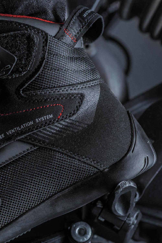 Мотоциклетные ботинки SHIMA EXO VENTED из кожи и текстиля вид пятка купить по низкой цене
