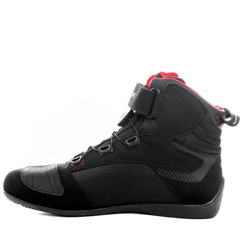 Мотоциклетные ботинки SHIMA EXO VENTED из кожи и текстиля вид сбоку изнутри купить по низкой цене