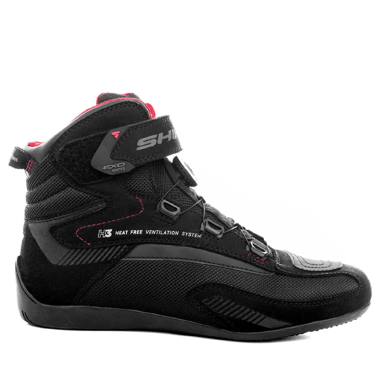 Мотоциклетные ботинки SHIMA EXO VENTED из кожи и текстиля вид сбоку снаружи купить по низкой цене