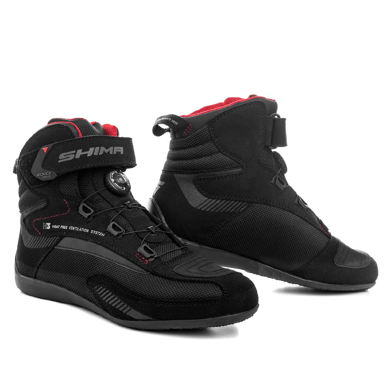 Мотоциклетные ботинки SHIMA EXO VENTED из кожи и текстиля купить по низкой цене