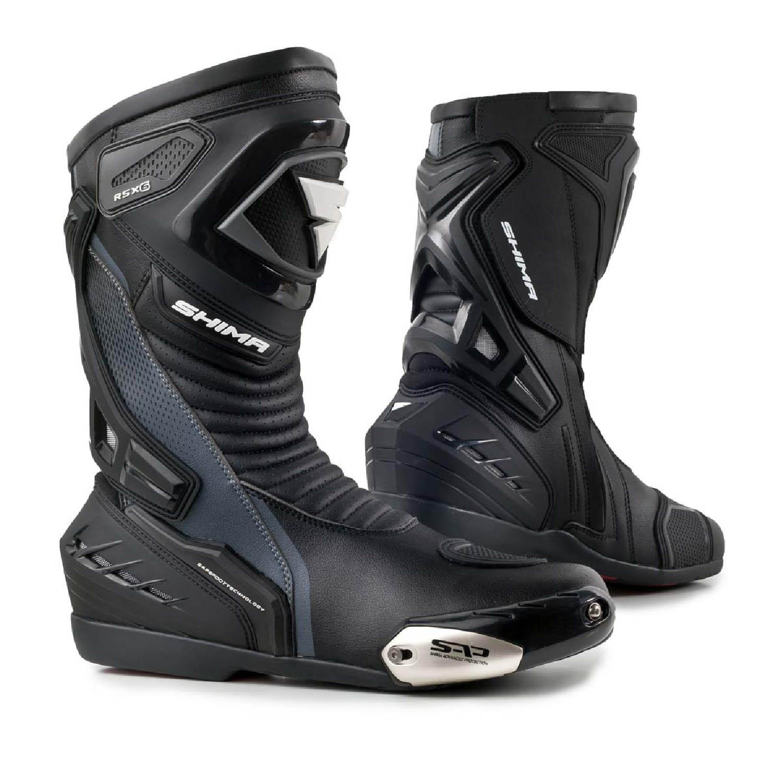 Мотоциклетные сапоги SHIMA RSX-6 чёрного цвета купить по низкой цене